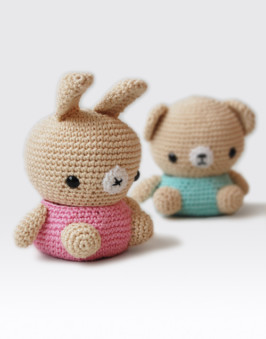 Amigurumi Bear and Bunny Box