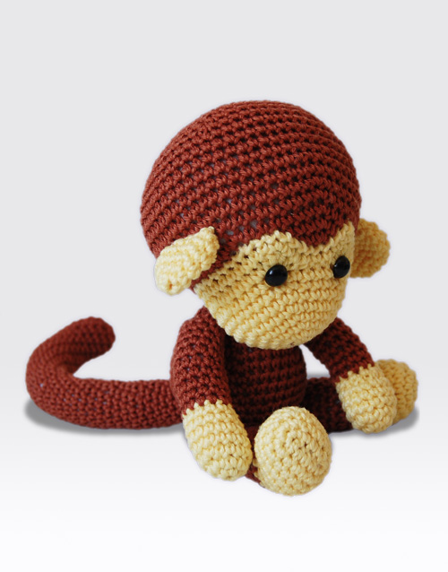 Amigurumi Gorilla Pattern : Johnny the Monkey Amigurumi Pattern Pepika Amigurumis