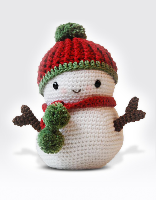 Amigurumi Free Patterns Christmas : Frosty the Snowman and Christmas Tree Amigurumi Pattern ...